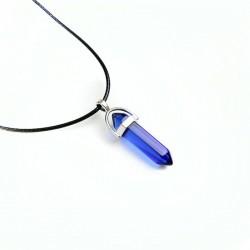 Naszyjnik niebieski kryształ